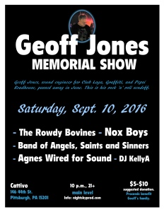 Geoff Jones Memorial Show flyer