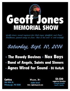 Geoff Jones Memorial Show flyer